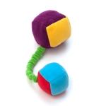 «Кубики»(из флиса) на резинке с пищалками