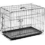 Клетка №4 пл. поддон, 2 двери, эмаль + ножки 90*58*65 см