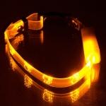 """Ошейник светящийся  """"Лапки"""" прозрачный 10 мм, (20-27 см),жёлтый"""